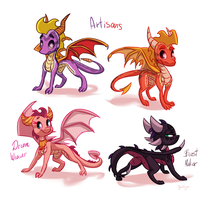 Spyro races by OgaraOrCynder