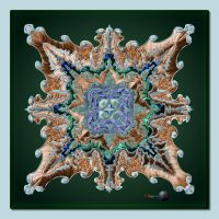 QH-20180115-Copper-Embroidery-on-Green-Mandala-v6 by quasihedron