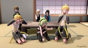 'Host Trouble' Group Pose Download by CorruptedDestiny