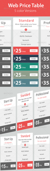 Web - Hosting Price Table by hanifharoon