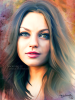 Mila Kunis Painting by perlaque