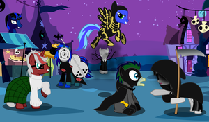 Nightmare Night with mah Friends by wolfsman2