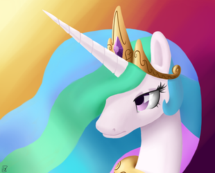 Her Royal Highness, Princess Celestia of Equestria by MidwestBrony