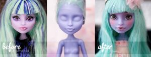 BeforeAfter + Youtube video - Monster High Twyla by AndrejA