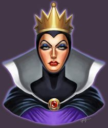 Evil Queen Bust by SSJSophia