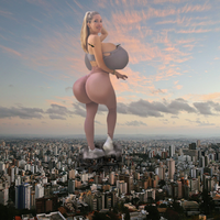 Giantess Fit Girl by GangstaLilith2