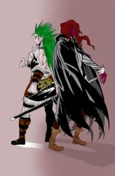 Vancha March and Gannen Harst Manga Colouring by Durzarina