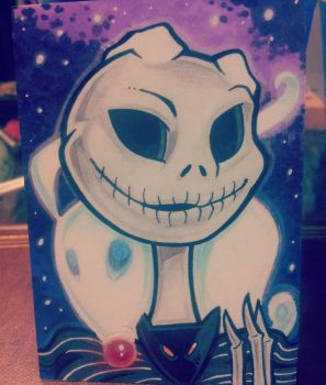 [Drawlloween 2015] Day Twenty: Skeleton by katsu
