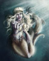 'Come to me' - Beckoning Mermaid by AurielPhoenix