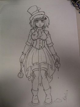 Work Doodle - Mad Hatter by geneticallymodified