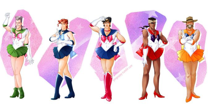 Jojo's Bizarre Adventure X Sailor Moon by yang