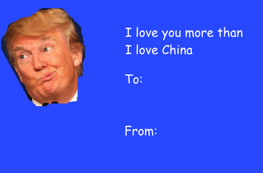 Trump Valentines Day Card By Kitfisto1997 On Deviantart