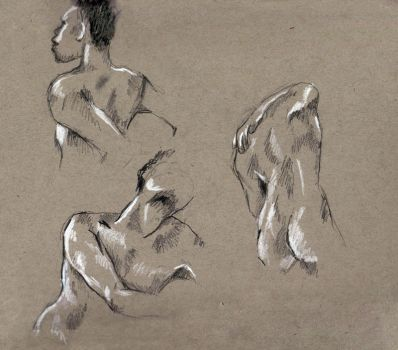 Life Drawing Sketches (1) by Sivia