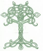 Celtic Tree by LaughingAstarael