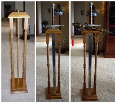 Sword and Knife Stand by DefiantHeart