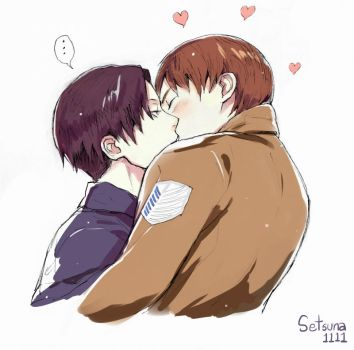 can i Kiss you -Eren x Revaille by setsuna1111