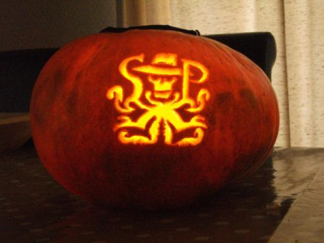 Skulduggery Logo Pumpkin by its-a-digiconspiracy