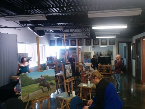 Open House Demo at Calgary Figure Drawing. by gkpainting