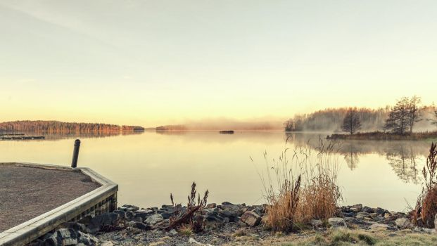 Silence morning on the lake by BIREL