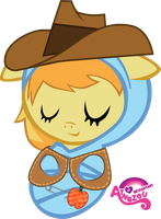 Newborn Braeburn Asleep by atnezau