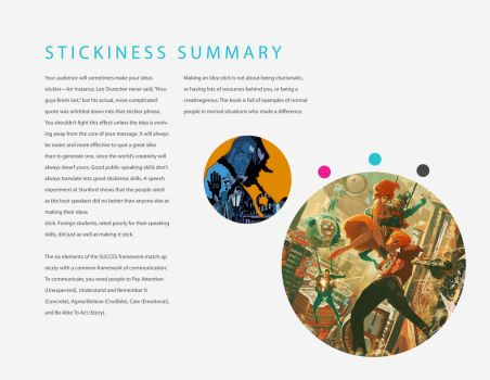 Made To Stick Book Design - Stickiness Summary by CRUX56