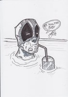 Deadpool Warm-Up Sketch by BouncieD