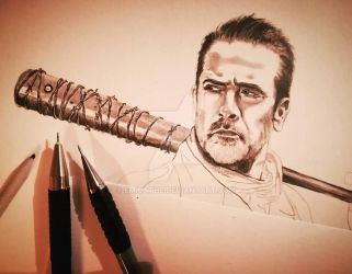 I am NEGAN ! WIP by emicathe