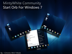 MintyWhite Community Start Orb by Chronic-Win7-Mods