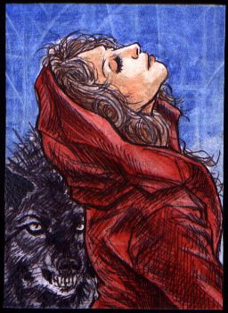 Red Riding Hood ATC by kramwartap