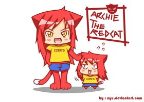 Chibi Archie The Red Cat by cyu