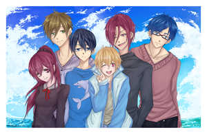 Free! Smile for the Camera by ArtistAllie