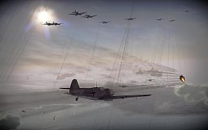 Bf109 shoots down an Spitfire by DasMarc