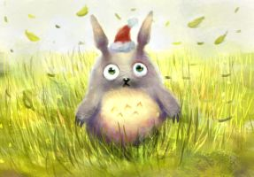 A tiny Totoro by ravenousbeing