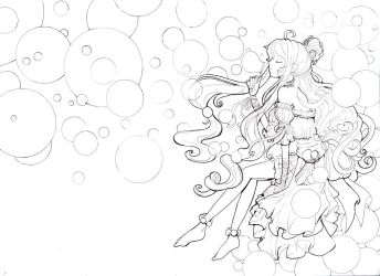 Bubble princess line by Namtia