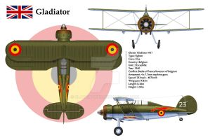 Gladiator Belgium 3-View by WS-Clave