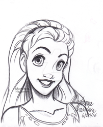 Sweet Lady Portrait Sketch - June 20, 2016 by ColorfulArtist86