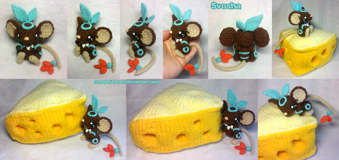 Transformice. Amigurumi. Shaman with his cheese by krikdushi