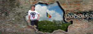 Romanian map on cracked wall by silviubacky