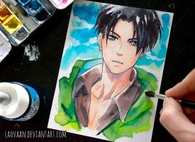 Levi - Attack on Titan by Laovaan