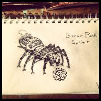 SteamPunk Spider by AbbyCatWolff