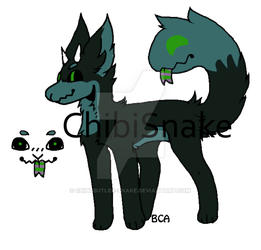Monster dog Adopt Auction (sold) by Chibi-Butler-Snake
