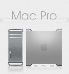 Mac Pro Psd + Png + Ico by taxO