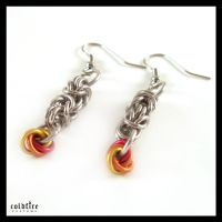 Fire Byz Earrings by coldfirecustoms
