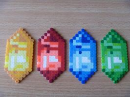 Final Fantasy I Crystals by DisasterExe