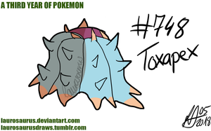 A third year of pokemon: #748 Toxapex