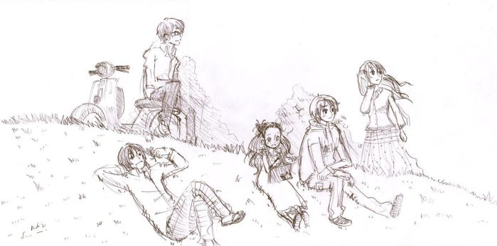 honey and clover sketch by rob-jr