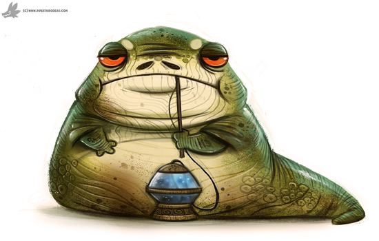 Day 797. Jabba the Hutt by Cryptid-Creations