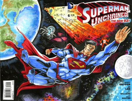 Superman Unchained Sketch Cover by bphudson