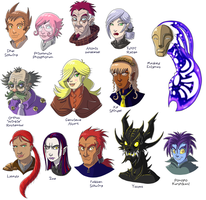 TCG Gen I Character Faces by TSoutherland