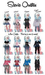 Stevie Outfits - Anthro by Saldemonium